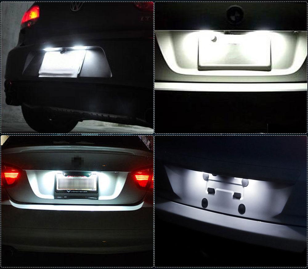 2x For Acura TL TSX RDX Honda Civic Accord LED License