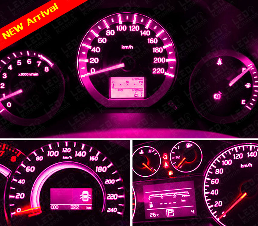 20x pink t5 b8 5d car gauge 5050 led speedo dashboard dash. Black Bedroom Furniture Sets. Home Design Ideas