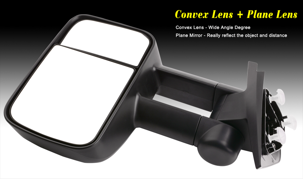 for 07 14 silverado gmc sierra 1500 2500 3500 pickup manual towing side mirrors ebay. Black Bedroom Furniture Sets. Home Design Ideas