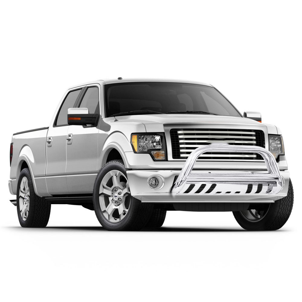 Chrome Bull Bar Guard With Skid Plate For 2004 2017 Ford F150
