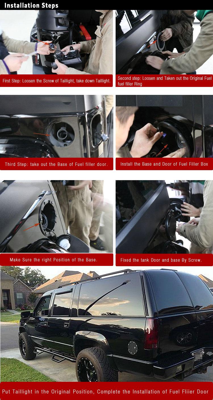Matte Black Gas Fuel Fillter Cap Door Cover For 99-11 Ford  Super Duty F250//F350