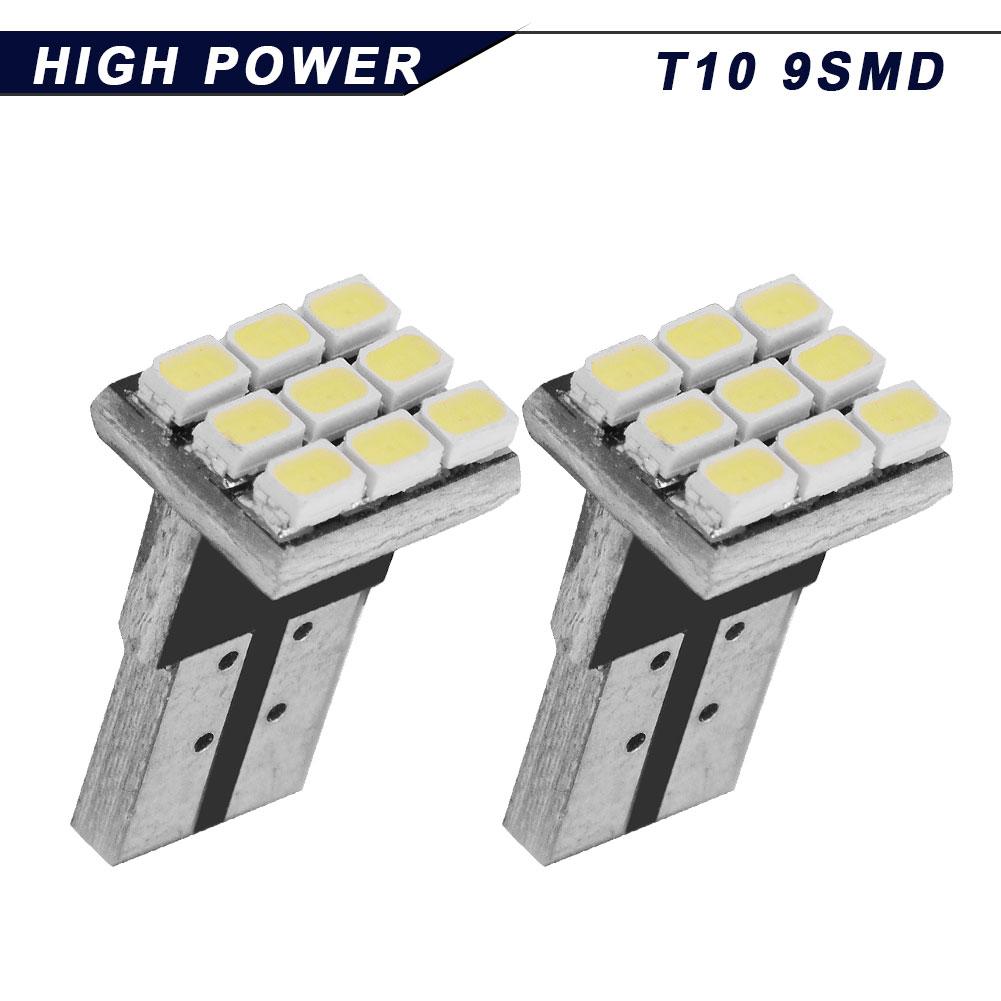 20x 7000K White T10 Wedge 5050 LED Dome Map License Interior Light Bulbs 192 194