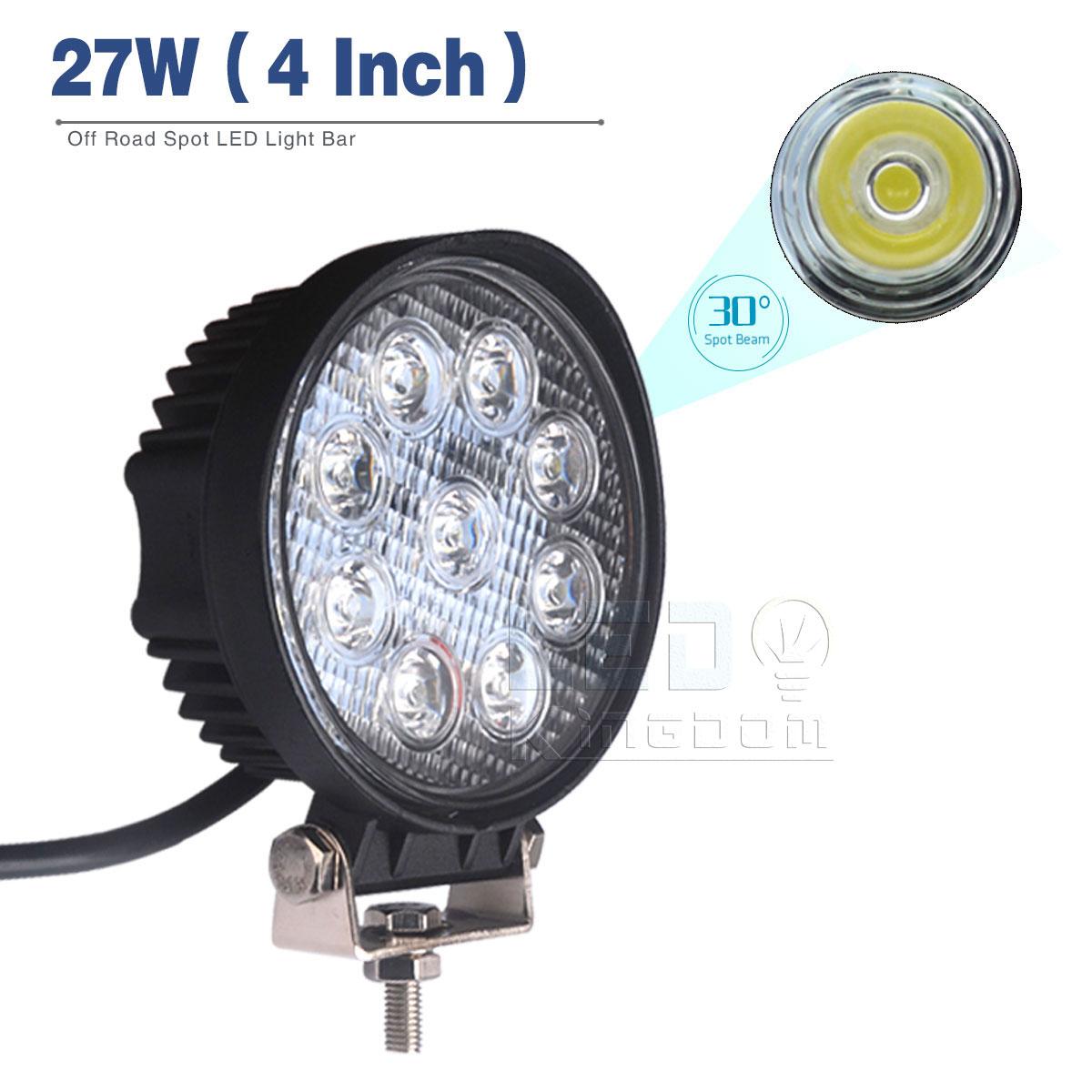 27w Led Work Light : Pcs quot w round led work light bar spot beam offroad