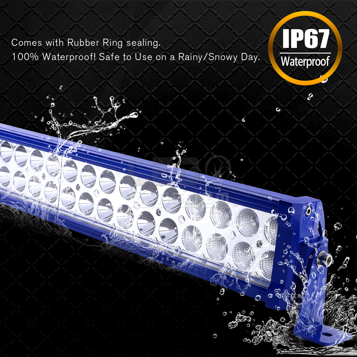 2x 24 Inch 1280w Spot Flood Combo Led Light Bar Driving
