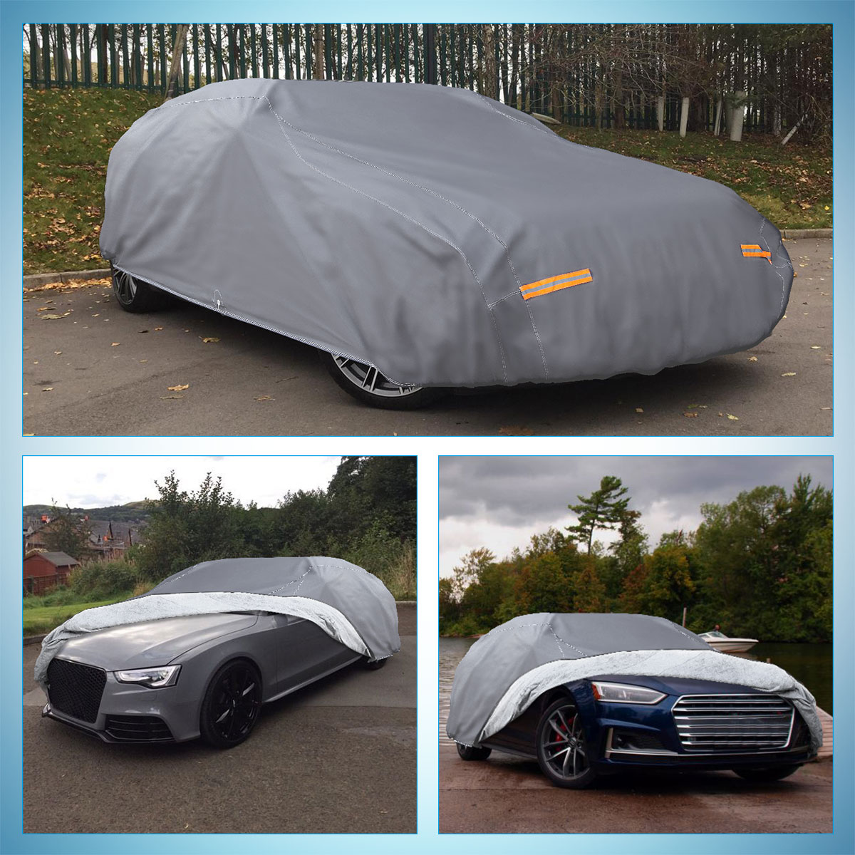 Maserati Ghibli 2014 ON PREMIUM LUXURY FULLY WATERPROOF CAR COVER COTTON LINED HEAVY DUTY INDOOR OUTDOOR HIGH QUALITY
