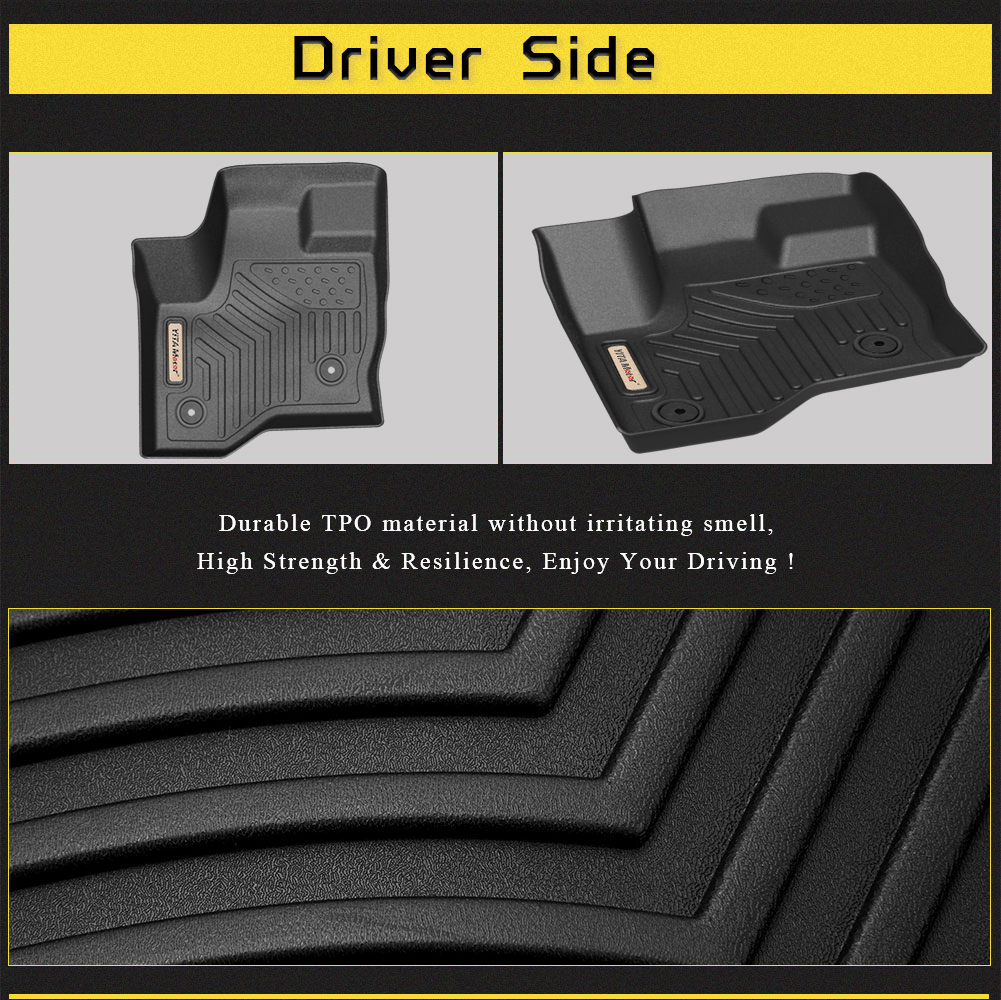Floor Mats For 2011 2019 Ford Flex Heavy Duty Rubber All