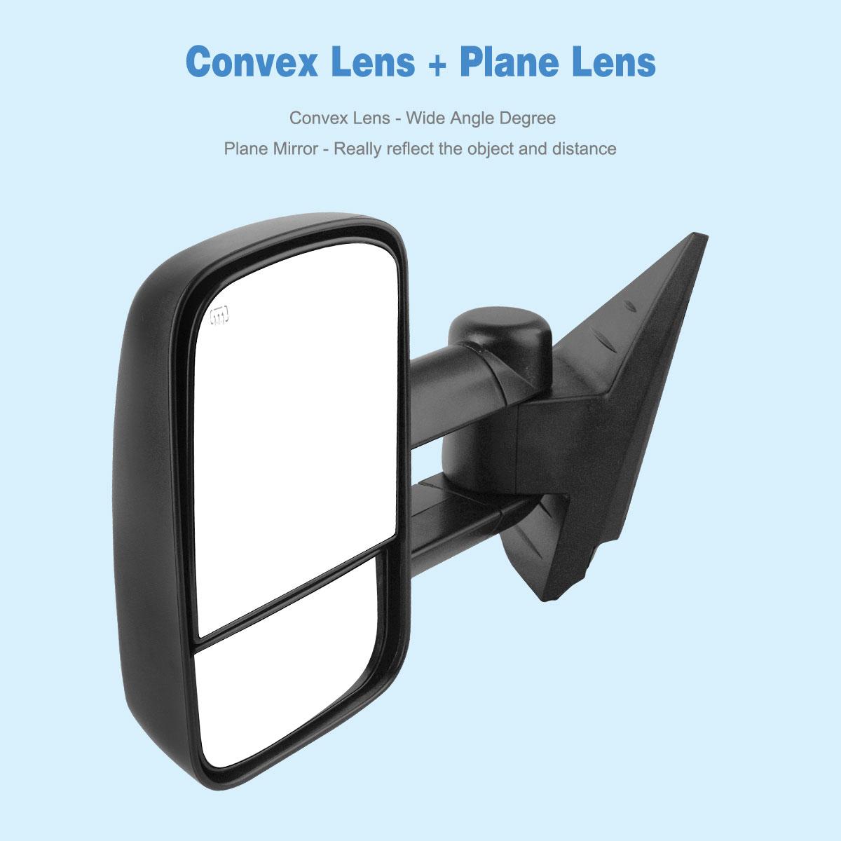 Towing Mirrors For 07 13 Chevy Silverado Gmc Sierra 1500