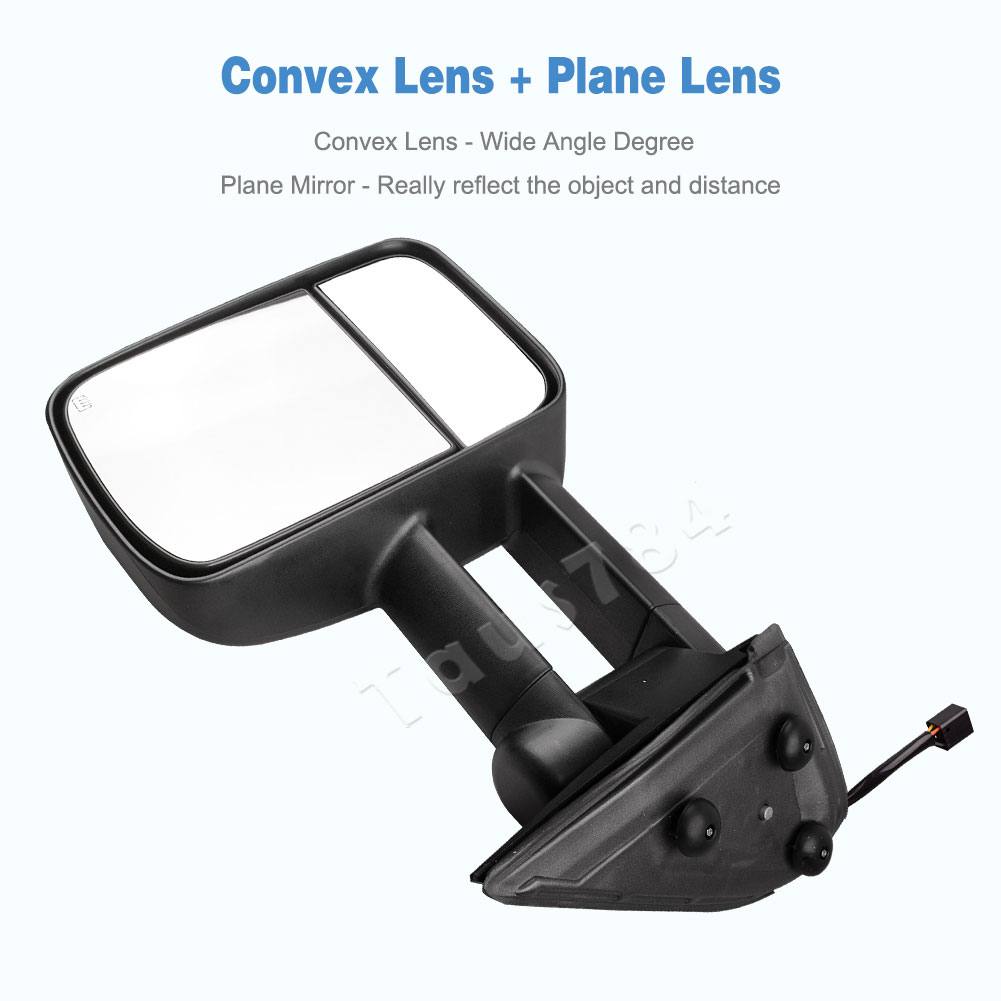 towing mirrors for 99 02 chevy silverado sierra 1500 2500 2500hd power heated ebay. Black Bedroom Furniture Sets. Home Design Ideas