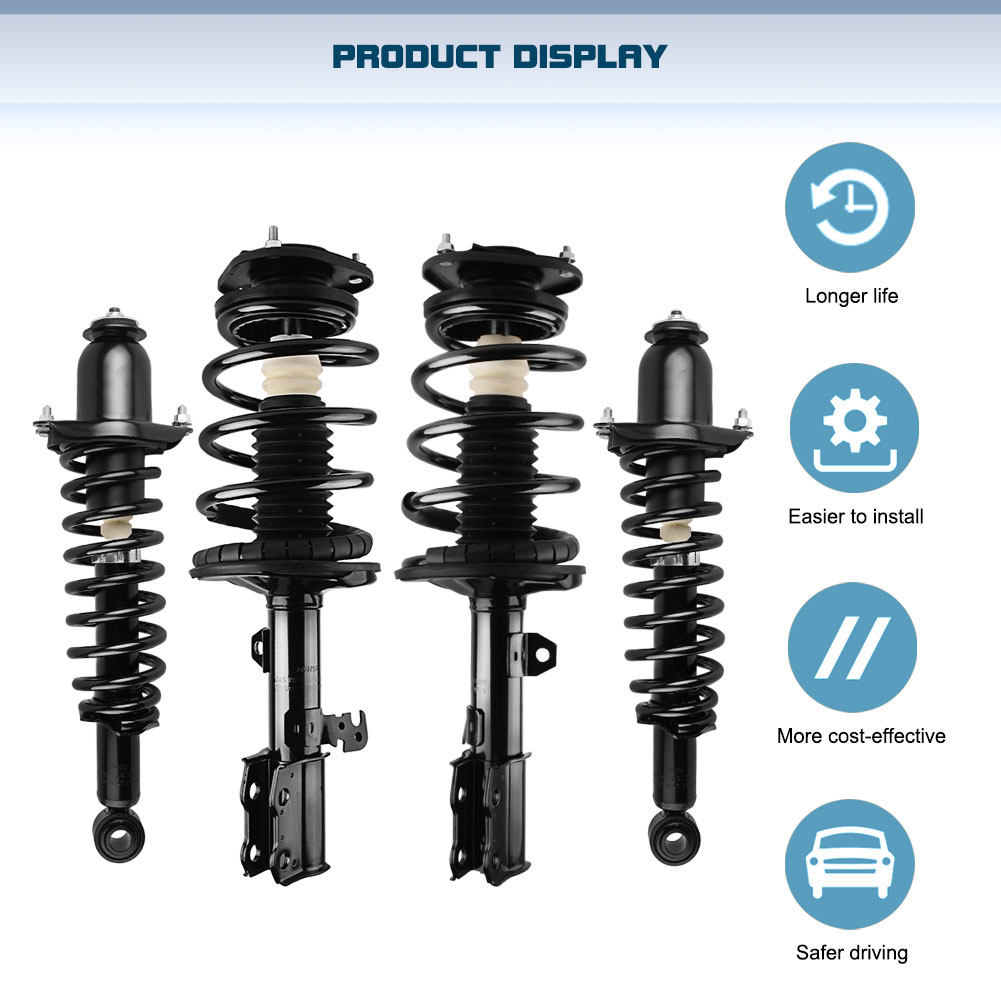For 2003 2004 2005 2006 2007 2008 Toyota Corolla Front Pair Shocks /& Struts