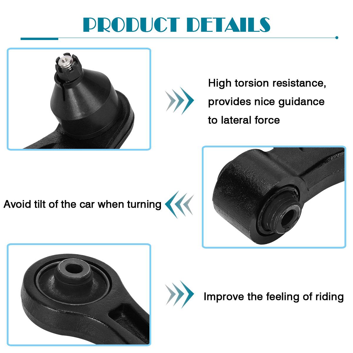 8pcs Front Lower Control Arm Suspension Kit For 2001-2005