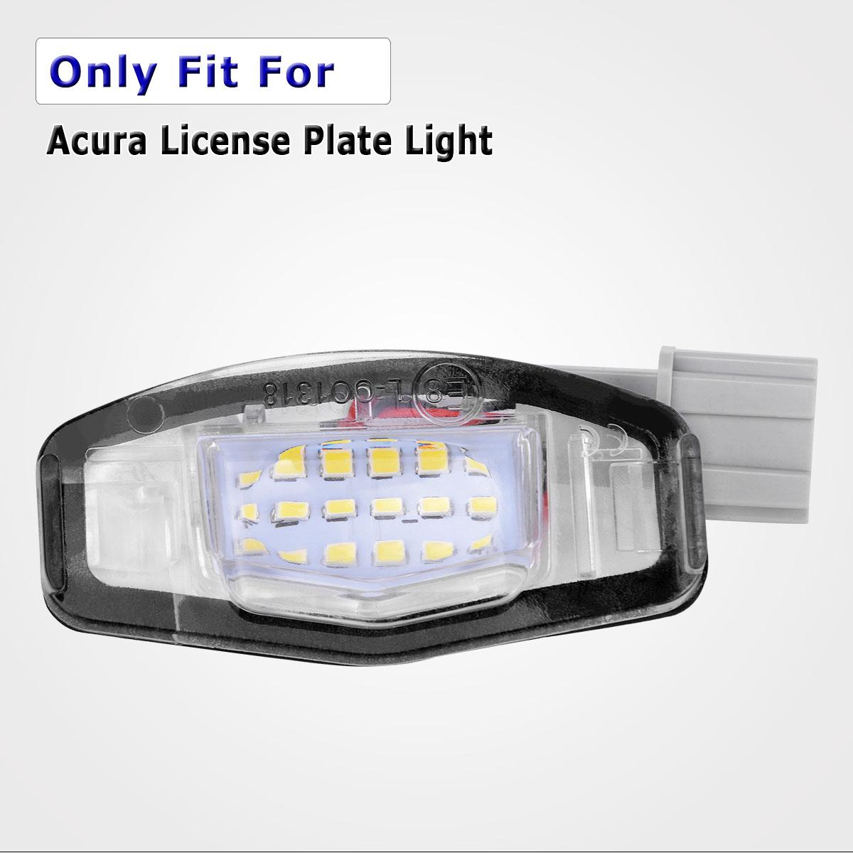 2Pcs 18 LED White License Plate Light For Acura TL TSX MDX