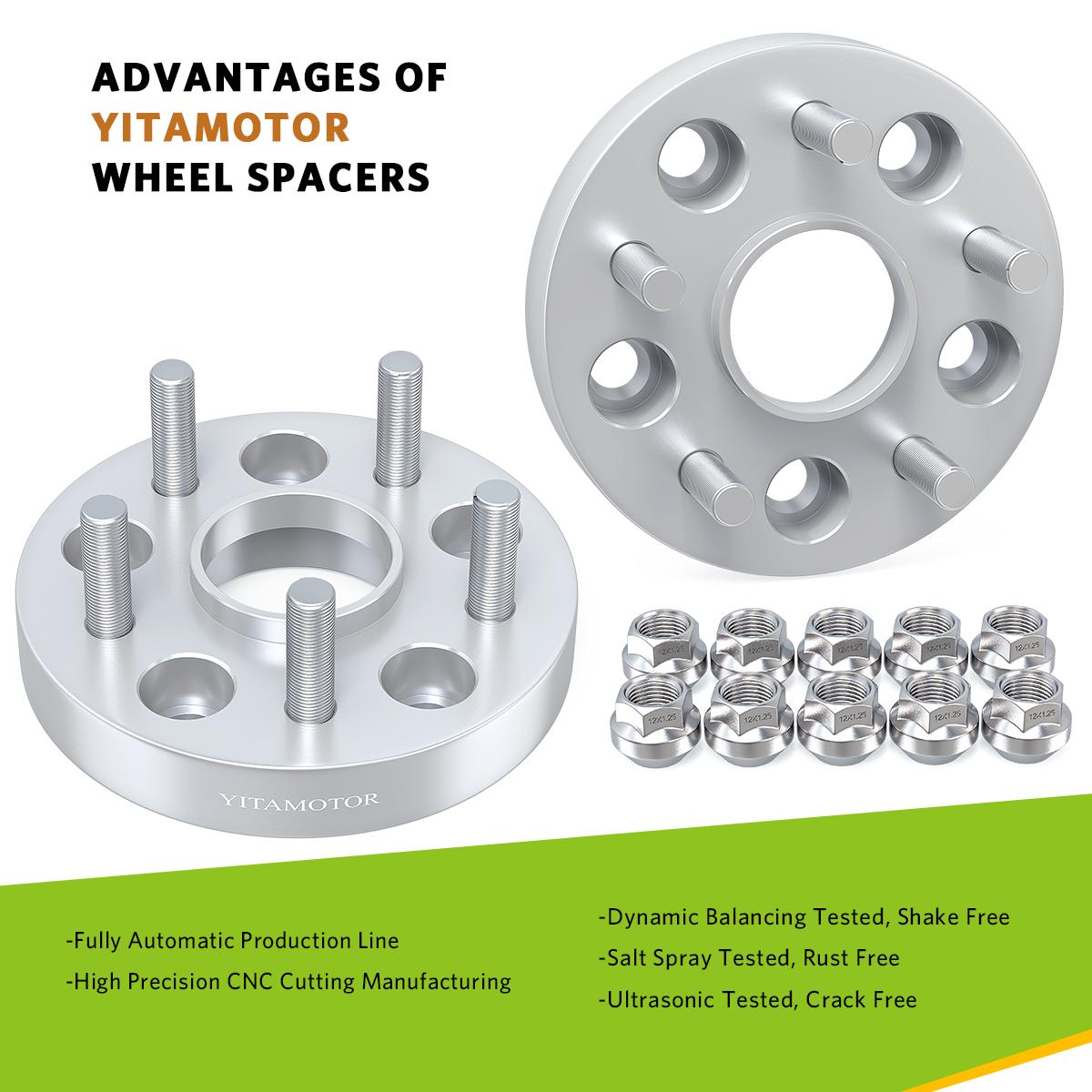 "2x Wheel Adapters5x100 to 5x127 5X5 12x1.5 studs25mm 1.0/"" Inch"