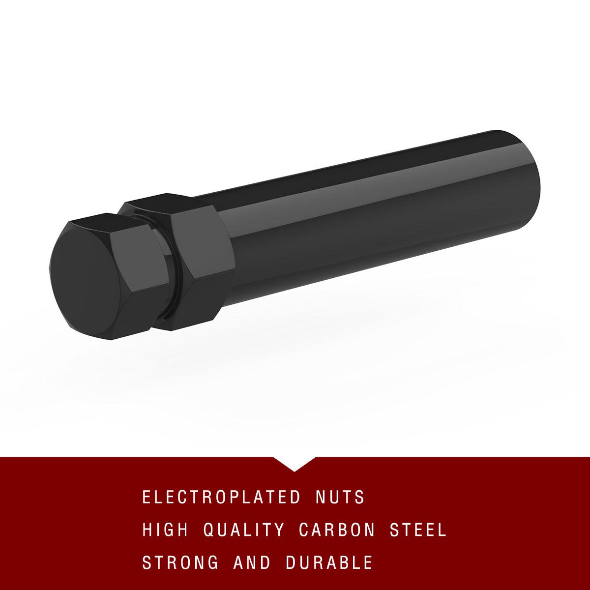 "1PC Black 6 Spline Drive Lug Nut Tuner Key Wheel Lock Tool 19mm 21mm 3//4/"" 13//16/"""